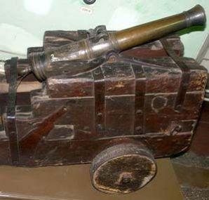 Пушка из бронзы