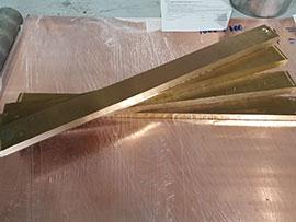 Резка латунных плит на полосы