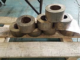 Нарезанные бронзовые трубы